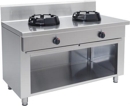 Gas Wok 2 brännare 2×21 kW – CC/02 – 1000x500x850 mm