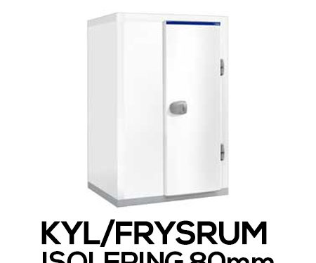Kylrum - isolering 80 mm
