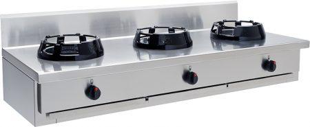 Gas Wok 3 brännare 3×21 kW – CC/03.BB – 1500x500x275 mm