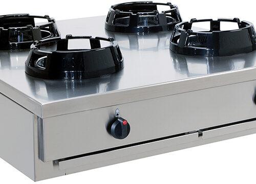 Gas Wok 4 brännare 4×21 kW – CC/04.BB – 2000x500x275 mm