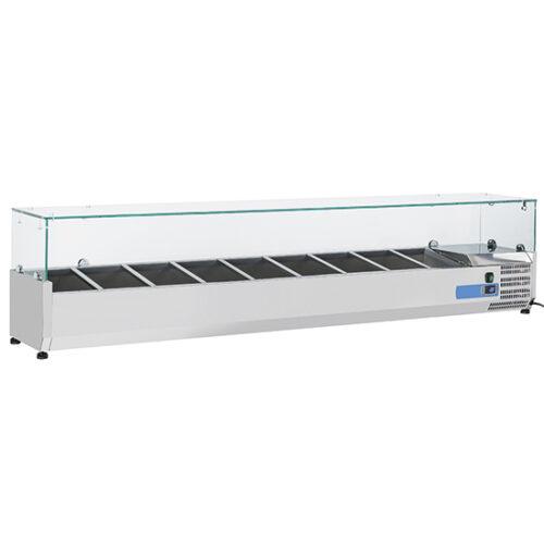 Kylränna 9969CV 10xGN1/4 Hostskydd i glas 2000 mm