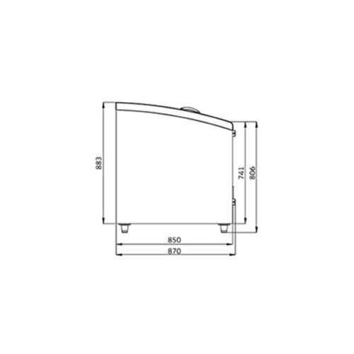 Frysbox 2500 mm, 883 Liter