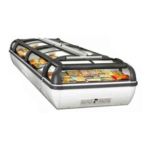 Frysbox med glasskjutlock för stormarknad och butiker hos Zilox