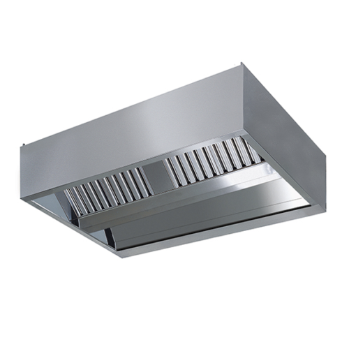 Ventilationskåpa inbyggd belysning 2200mm Djup